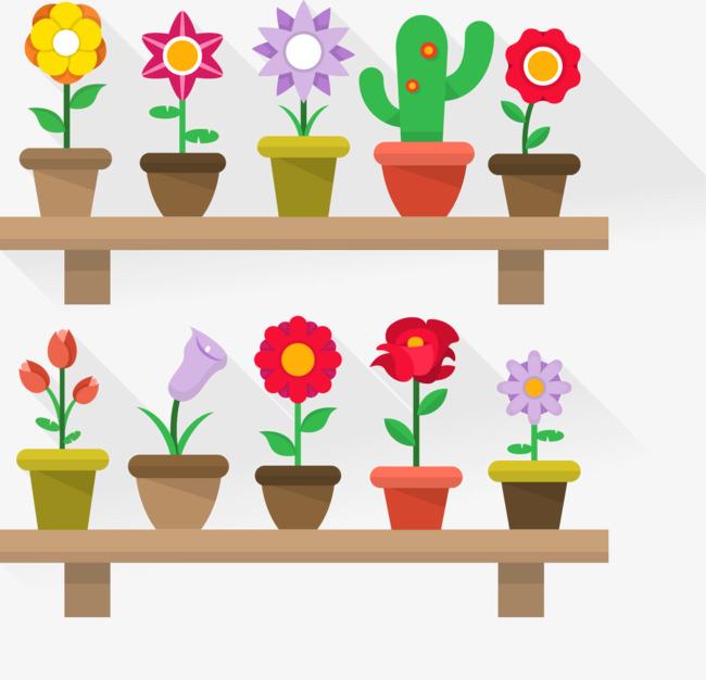 矢量手绘卡通花朵