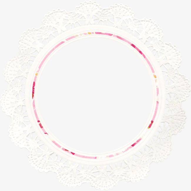 卡通手绘圆形镂空边框png素材-90设计