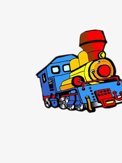卡通的火车头