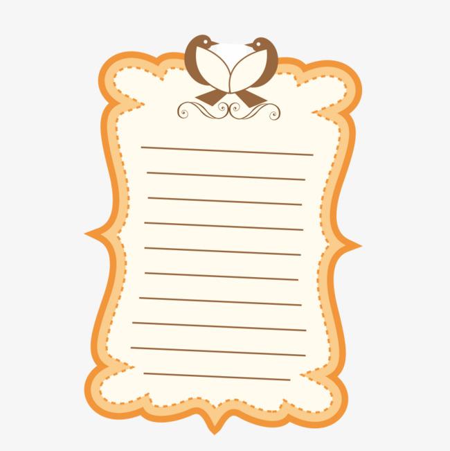 黄色书囹l#�+_黄色书信纸矢量图