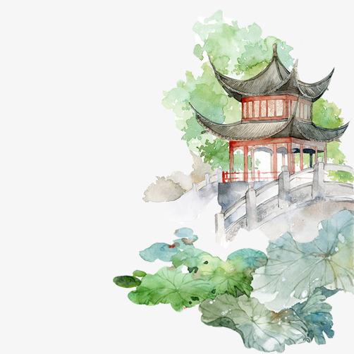 风水彩古风海报素材-水墨画风景图片素材图片免费下载 高清装饰图