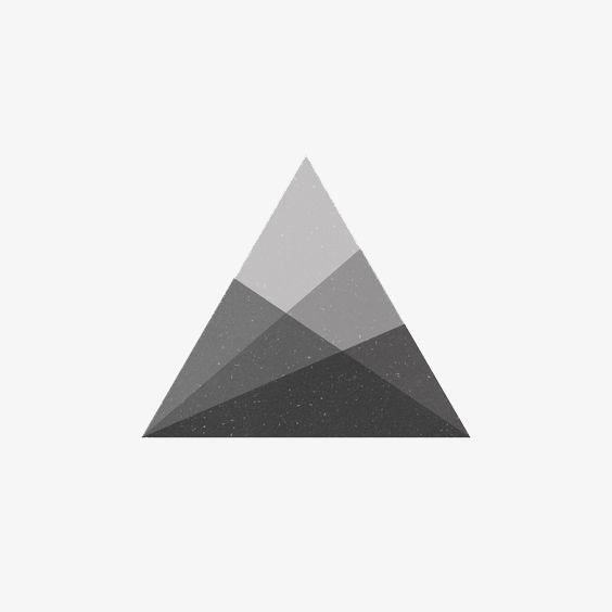 创意三角形png素材-90设计
