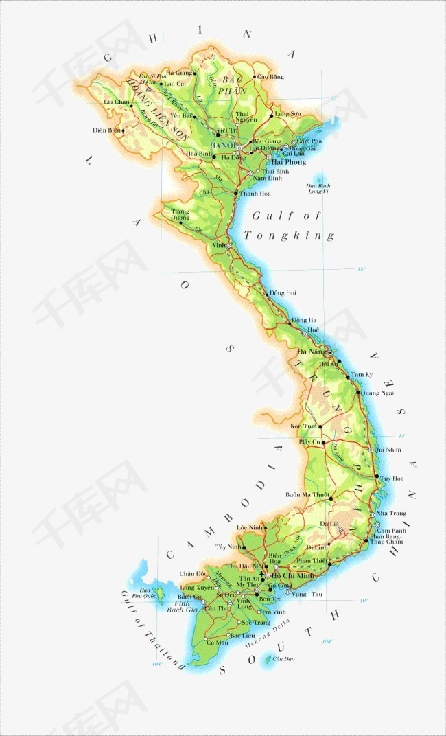 越南地图素材图片免费下载 高清效果元素png 千库网 图片编号5916244