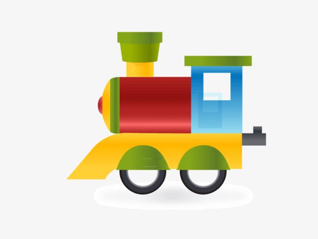 火车头卡通矢量素材