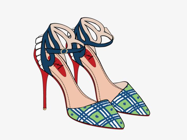 女鞋高跟鞋卡通矢量素材png素材-90设计图片