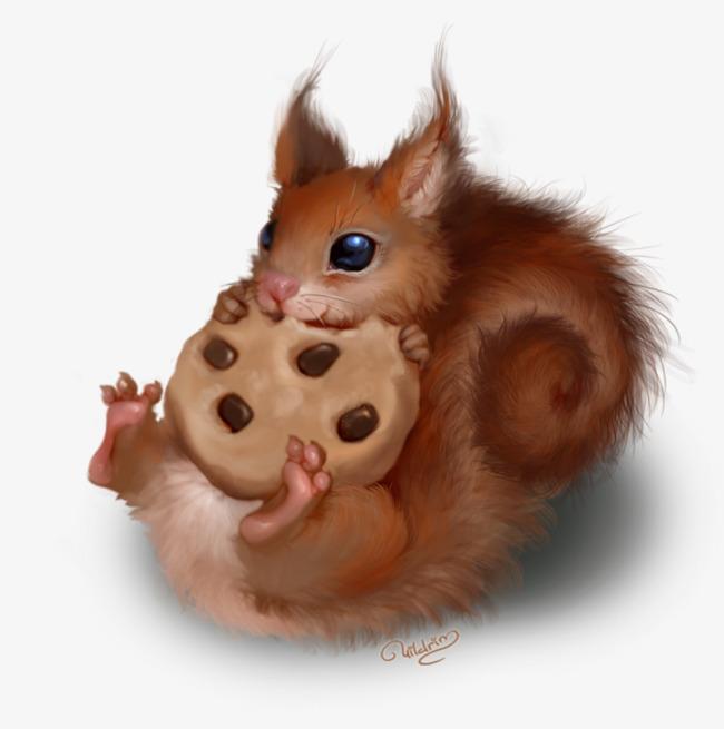 手绘 小动物 松鼠 可爱             此素材是90设计网官方设计出品