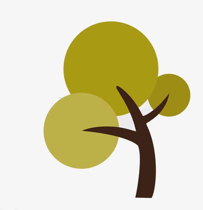 扁平成长中的小树苗图片