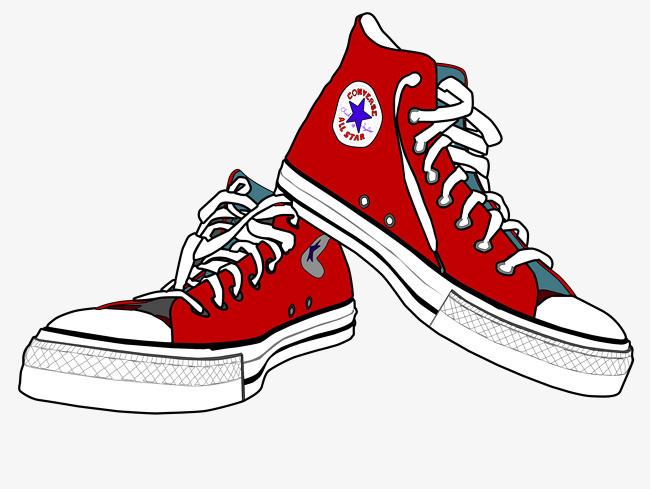 匡威红色经典鞋子