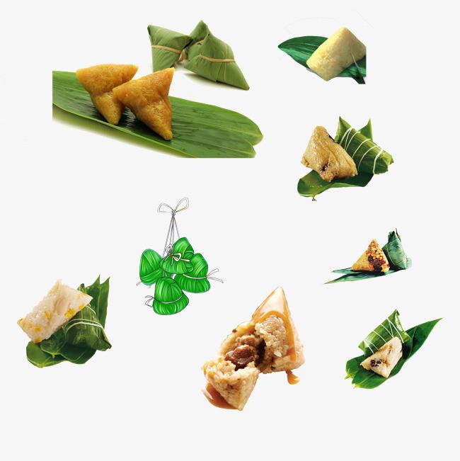 粽子粽子叶【高清节日素材png素材】-90设计