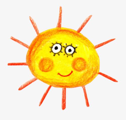 手绘太阳素材