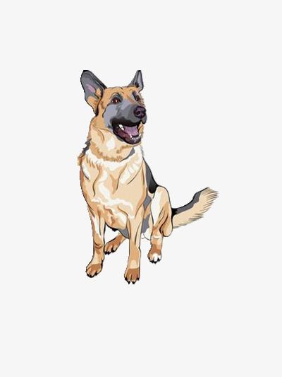 卡通的军犬图片