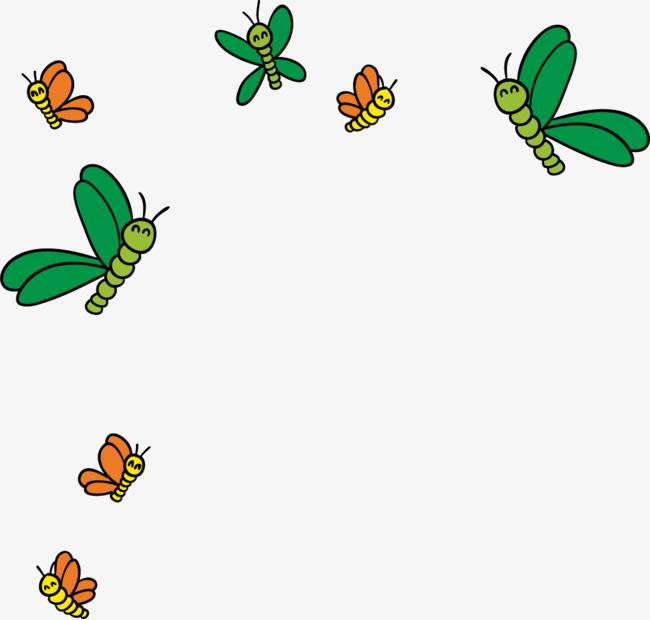 矢量手绘彩色蜜蜂