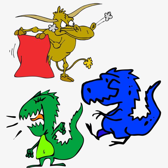创意动物彩色恐龙表情设计图片