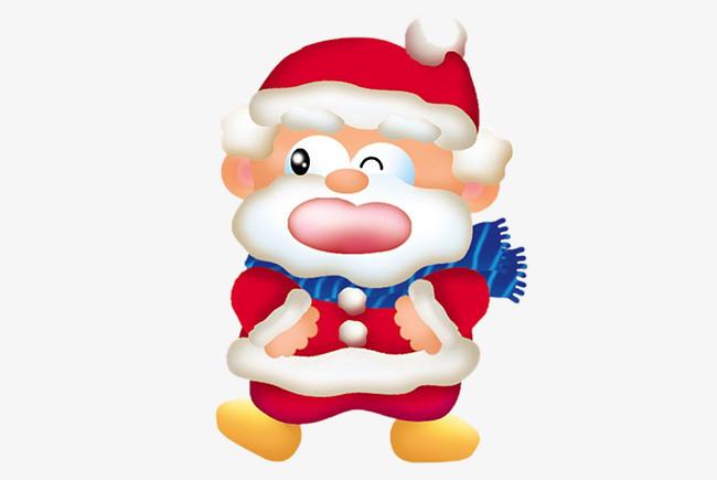 90设计提供高清png节日素材素材免费下载,本次卡通圣诞老人免抠图素材图片