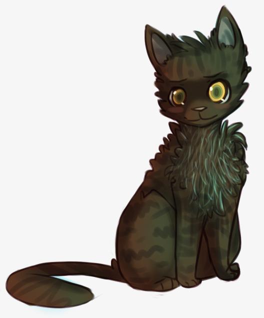 手绘黑色猫咪