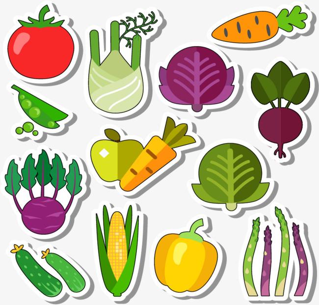 剪纸蔬菜png素材-90设计