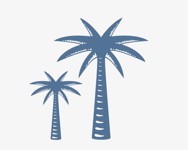 两棵椰子树矢量图