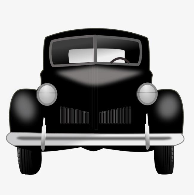 黑色的卡通汽车png素材-90设计
