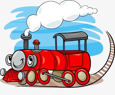 可爱红色小火车