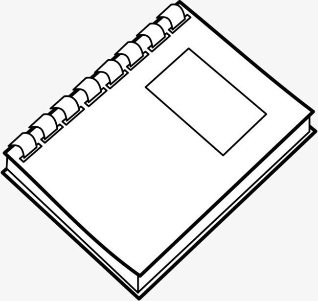 白色的手绘笔记本