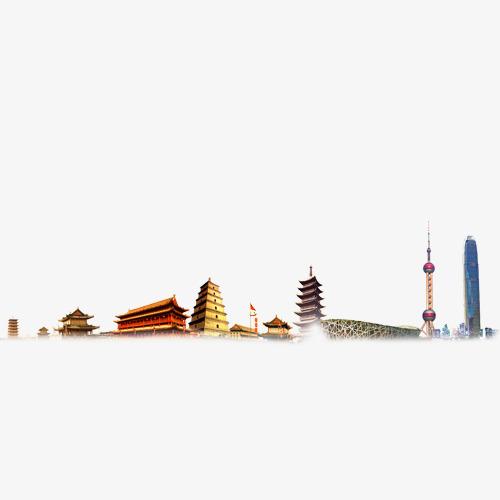故宫东方明珠等建筑物