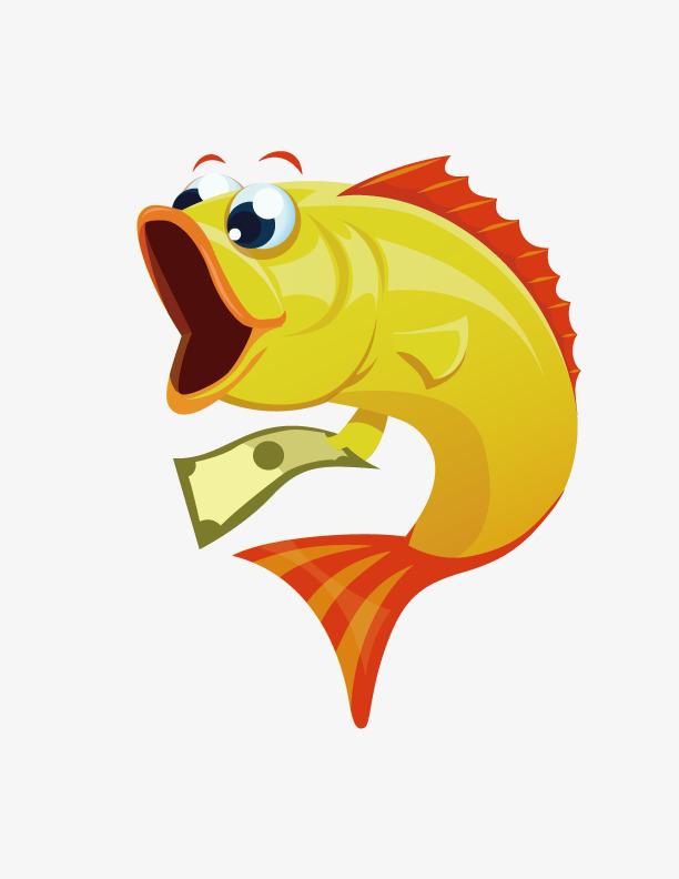 拿钱的可爱小鱼