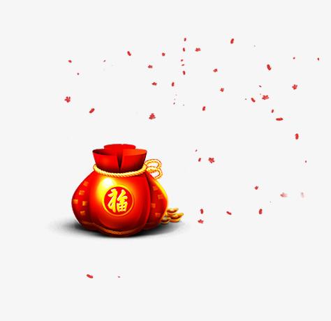 红色喜庆福袋