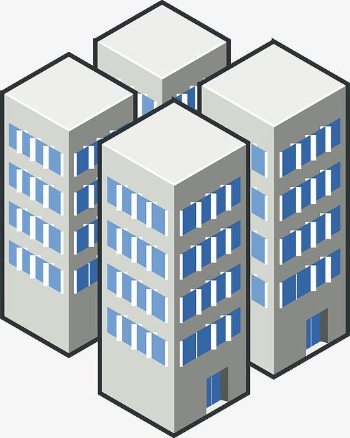 方块建筑简约手绘png素材-90设计