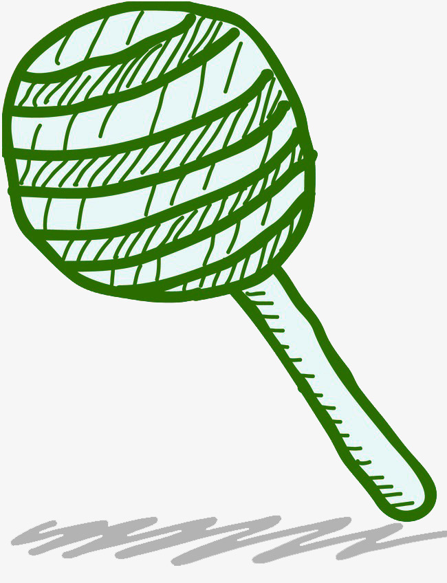 绿色棒棒糖简笔画