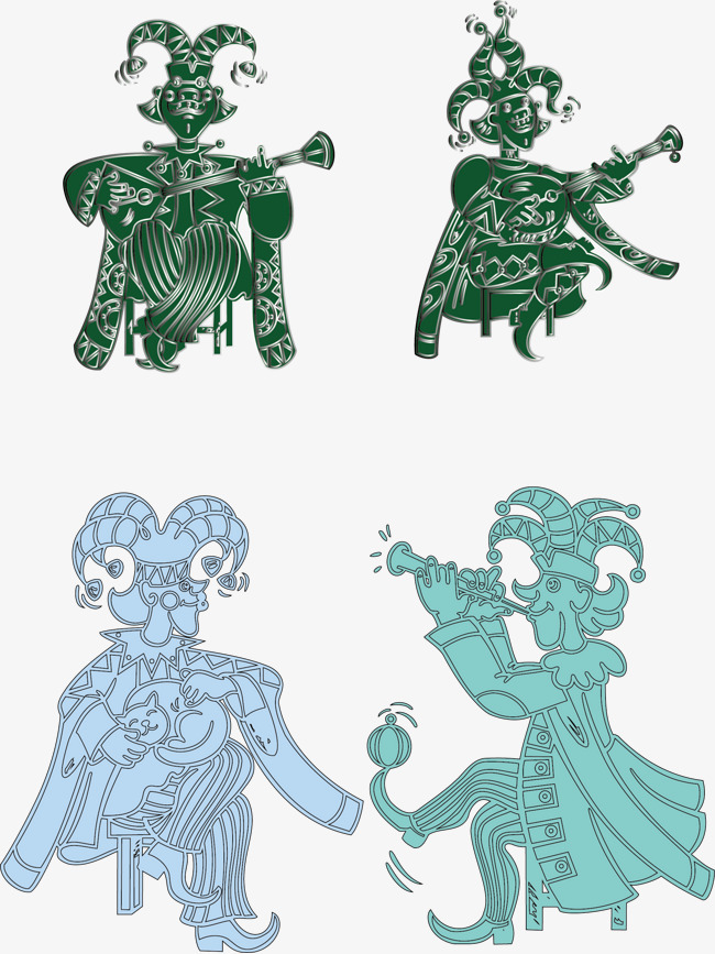 图片 > 【png】 卡通人物矢量素材  分类:手绘动漫 类目:其他 格式