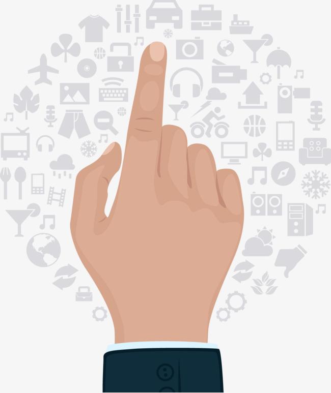 矢量手绘手指