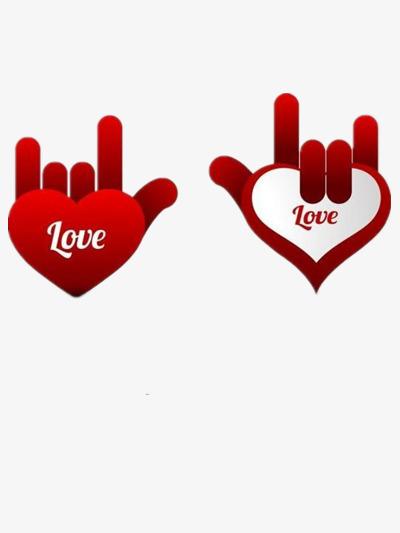 love手势图片