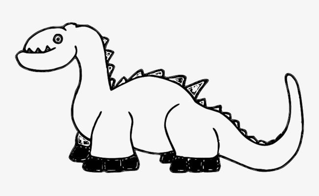 简笔画卡通小恐龙