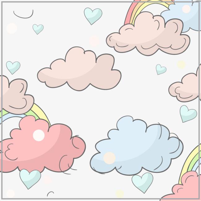 矢量彩色云朵【高清装饰元素png素材】-90设计
