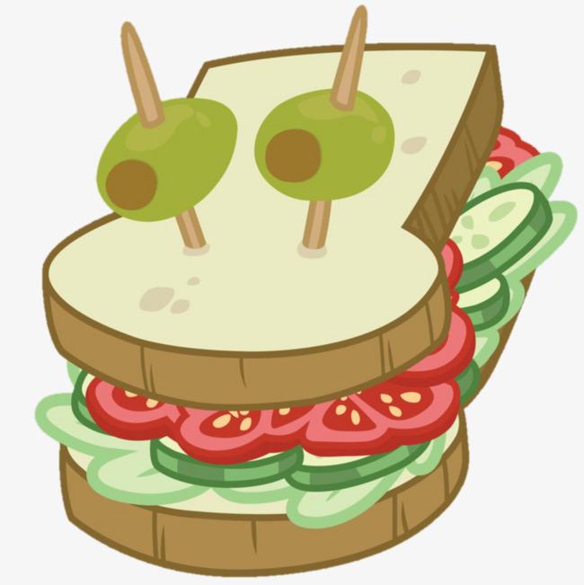 卡通三明治免抠素材图片