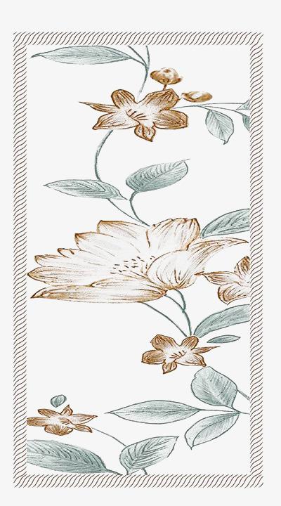 一幅棕色鲜花手绘图素材图片免费下载 高清png 千库网 图片编号5987643
