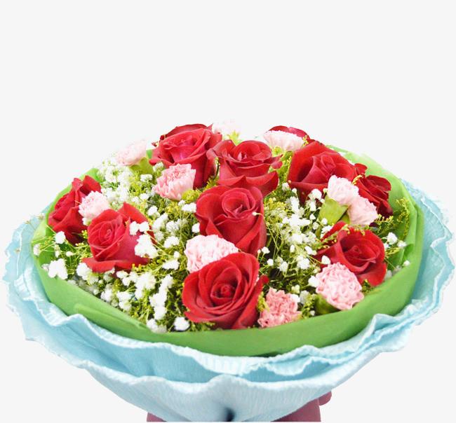 手捧玫瑰鲜花图片