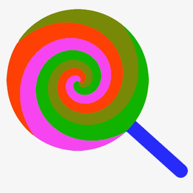 彩色棒棒糖简笔画