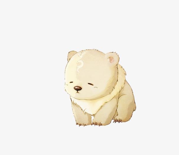 卡通手绘可爱北极熊