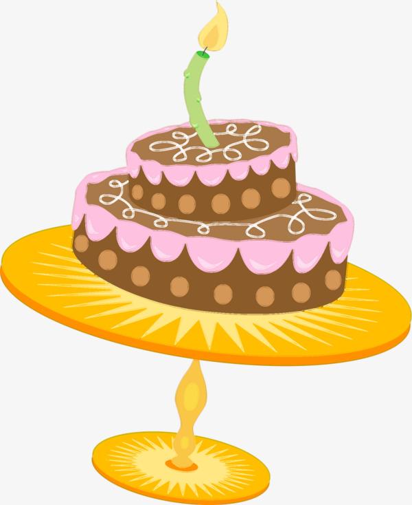 卡通手绘双层蛋糕