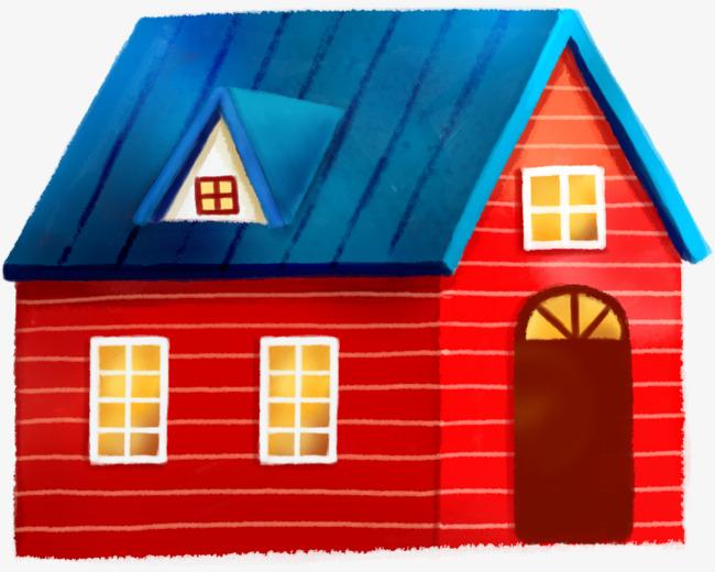 红色创意小木屋