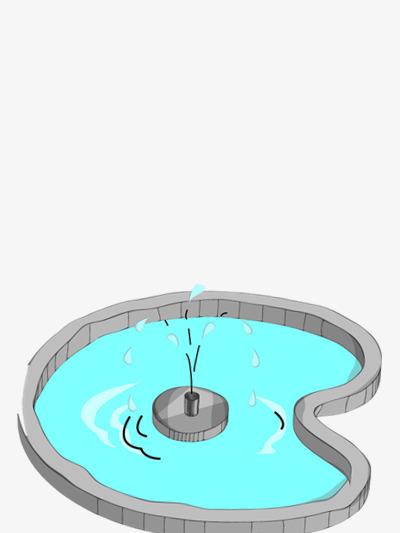 卡通的泳池图片