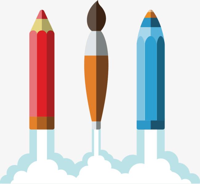 矢量创意火箭png素材-90设计
