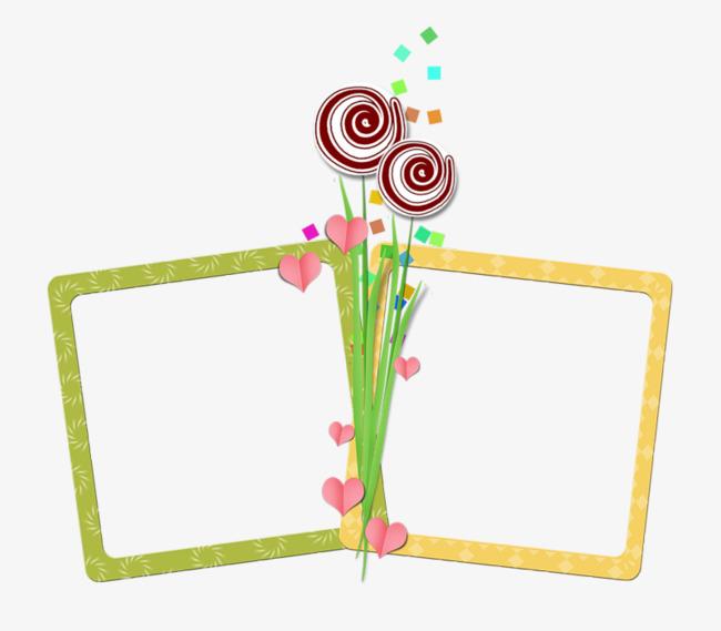 彩色棒棒糖手绘边框