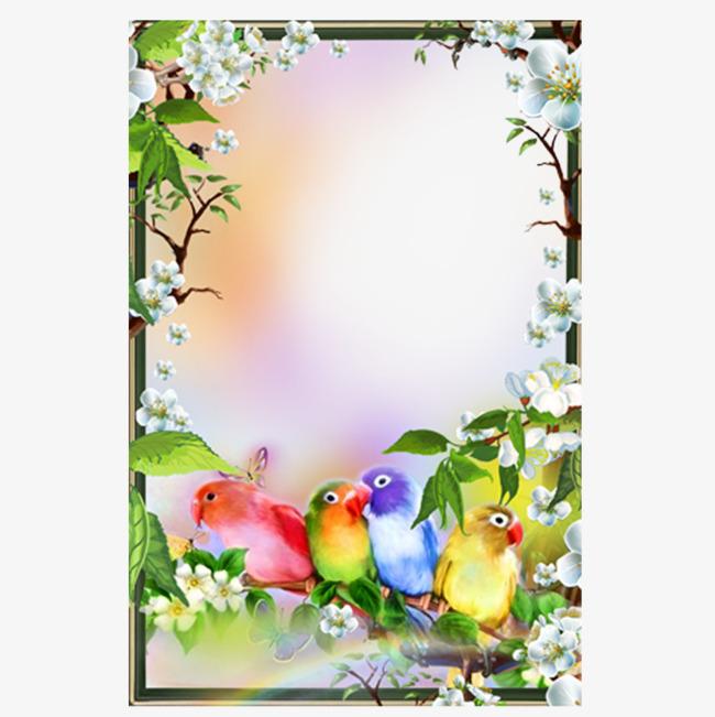 百灵鸟可爱相框
