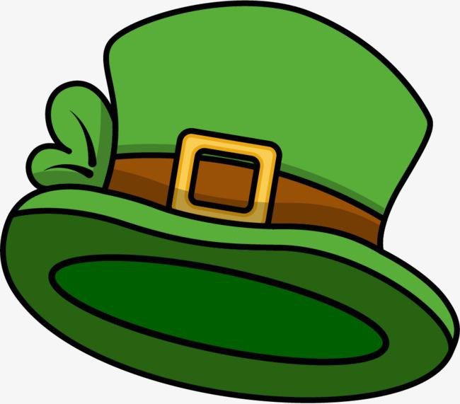 矢量手绘绿色帽子