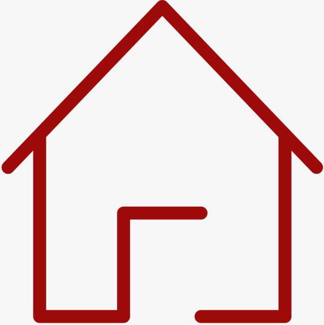 红色小屋简笔画