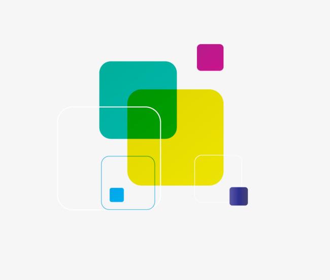 矢量手绘彩色方块png素材-90设计