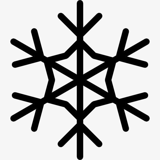 手绘雪花素材图片