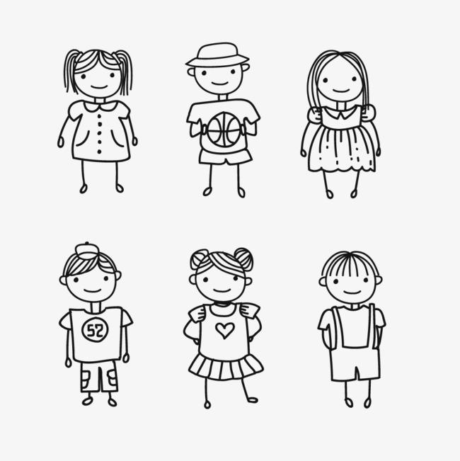 简单儿童简笔手绘人物